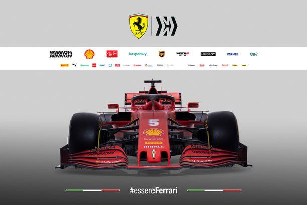 Tässä on Ferrarin uusi F1-auto.