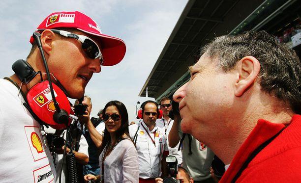 Michael Schumacher ja Jean Todt voittivat yhdessä viisi mestaruutta.