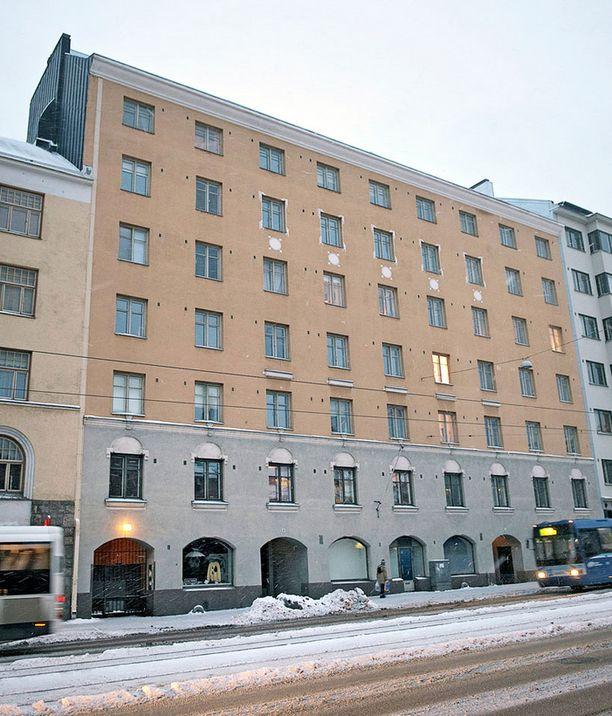 Tähän Hämeentiellä sijaitsevaan asuntoon Sara Sieppi muutti.