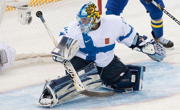 Noora Räty vartioi Suomen maalia myös Pyeongchangin olympialaisissa.