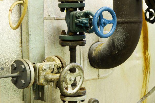 Vuotanut kaasuputki on usean asunnon käytössä. Kuvituskuva.