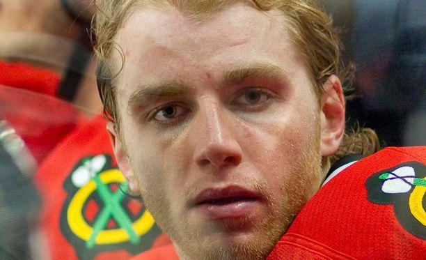 Chicago Blackhawksin seurapomo Stan Bowman ei pitänyt Patrick Kanen (kuvassa) toilailuista.