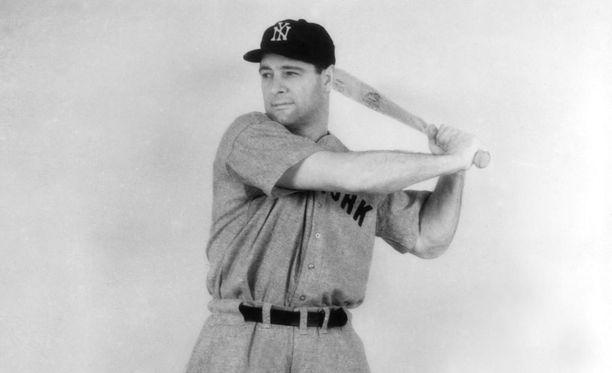 Lou Gehrig menehtyi 37-vuotiaana harvinaiseen hermostosairauteen.