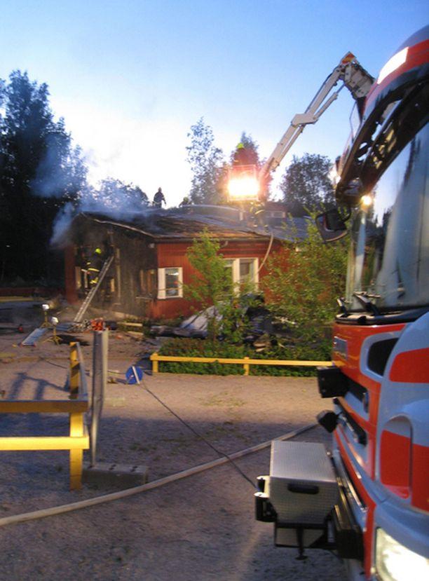Päiväkoti Kuperkeikka paloi heinäkuun lopulla.