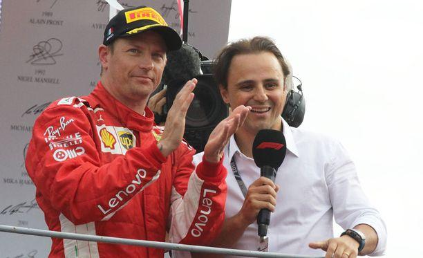 Kimi Räikköselle (vas.) viime viikonloppu saattoi jäädä viimeiseksi Italian GP:ksi urallaan.