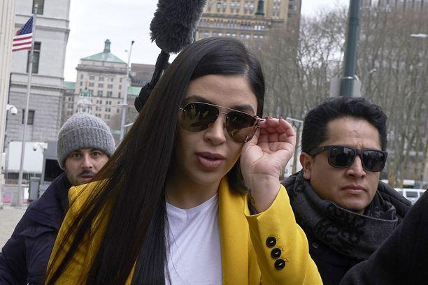Emma Coronel Aispuro oli paikalla miehensä oikeudenkäynnissä New Yorkissa vuonna 2019.