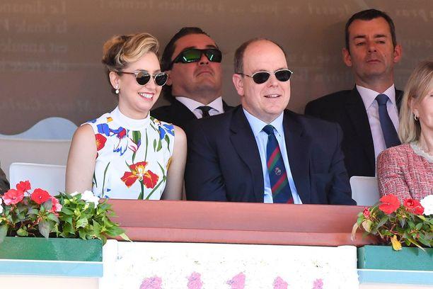 Grimaldi seurasi isänsä, Monacon ruhtinas Albertin kanssa Monte Carlossa järjestettyä tennisturnausta vuosi sitten.