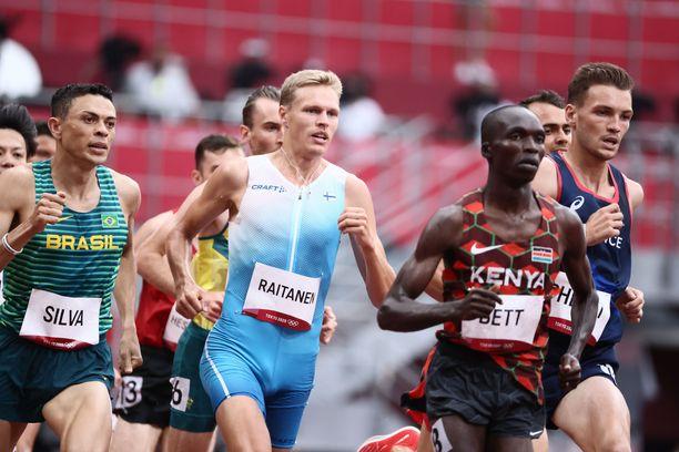 Topi Raitanen kiiruhti olympiafinaaliin.