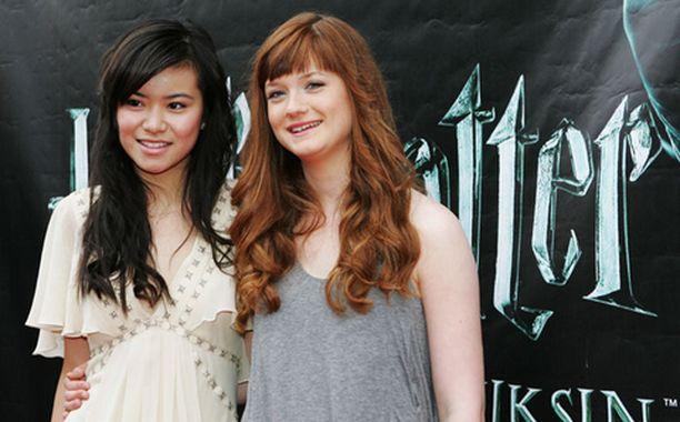 Potter-näyttelijät Katie Leung ja Bonnie Wright juhlistivat uusimman Potterin ensi-iltaa.