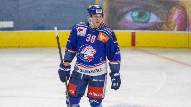 Marco Rossi pelasi yhden ottelun lokakuussa Zürich Lionsin riveissä.