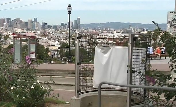 Dolores-puistosta on komeat näkymät San Franciscoon.