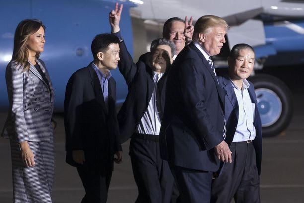 Tämä kuva otettiin toukokuun 10. päivä. Silloin Melania Trump esiintyi viimeksi julkisuudessa.