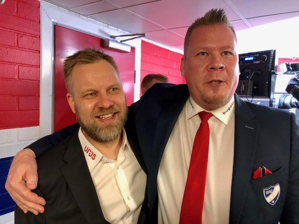 Mikko Manner ja Jarno Pikkarainen näyttivät, ettei välierätaistosta jäänyt mitään hampaankoloon.