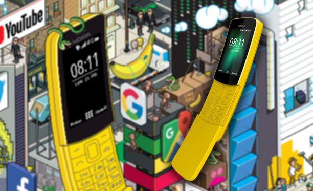 Banaanipuhelimella voi lähettää nyt Whatsapp-viestejä.