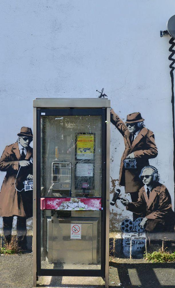 Banksyn teos otti kantaa valtion suorittamaan kontrolliin.