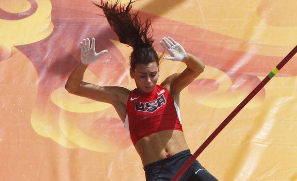Demi Payne edusti Yhdysvaltoja Pekingin MM-kisoissa vuonna 2015.