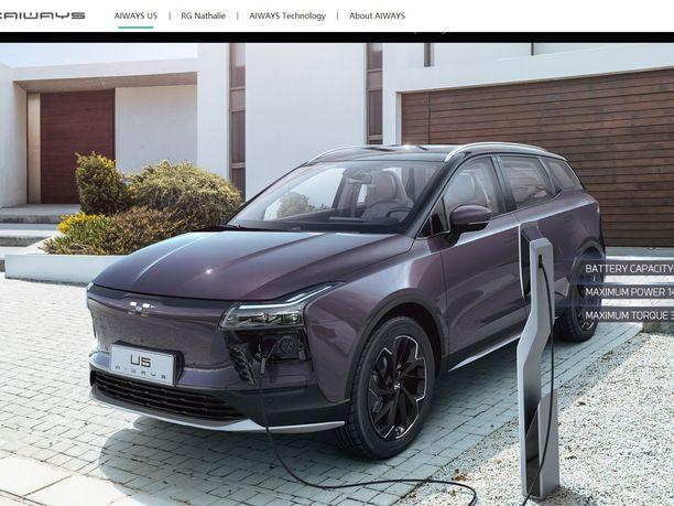 Eurooppaan? Kiinalainen start up -yritys Aiways esittelee sähköisen U5 -katumaasturinsa Geneven autonäyttelyssä maaliskuussa.
