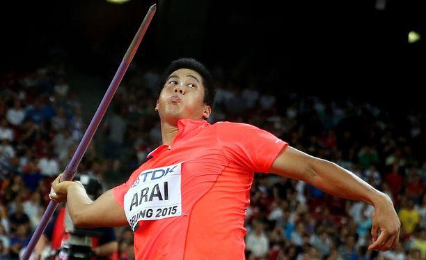 Ryohei Arai on heittänyt tällä kaudella 84,54.