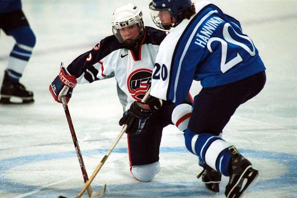 Hänninen voitti olympiapronssia Naganossa vuonna 1998.