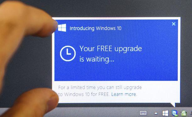 Microsoft markkinoi Windows 10 -käyttöjärjestelmää hyvin aggressiivisesti.
