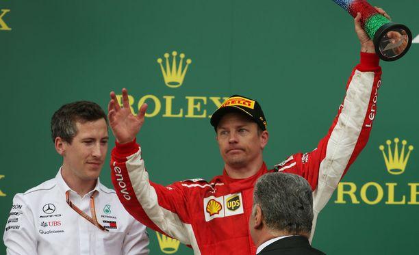 Kimi Räikkönen sai Azerbaidzhanista yhden uransa onnekkaimmista kakkospaikoista.