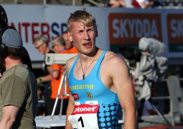 Samuli Samuelsson on juossut tänä kesänä lähelle 100 metrin Suomen ennätystä.