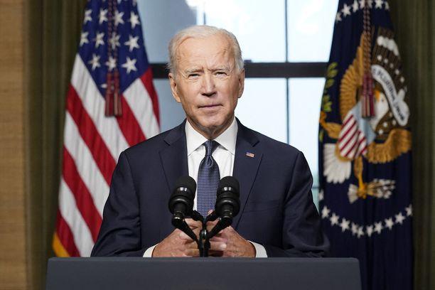 Biden piti TV-puheen kansalle keskiviikkona.