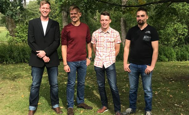 Kuvassa näkyvät uudet Maajussit. Vasemmalta oikealle: Tuomo, Mauno, Ilmari sekä Antti-Jussi.