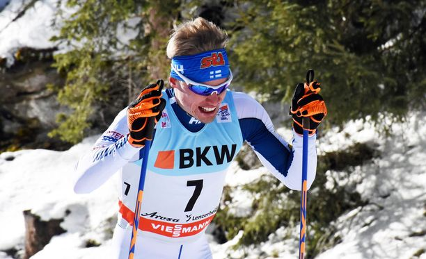 Iivo Niskasen vapaan hiihto kulki maanantaina Sveitsissä.