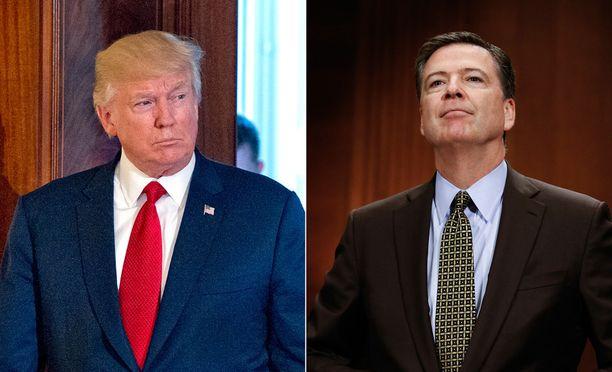 Yhdysvaltain presidentti Donald Trump erotti FBI:n johtajan Mike Comeyn.