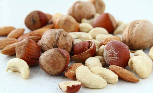 Pähkinöistä saa paljon energiaa ja hyvänlaatuista rasvaa.