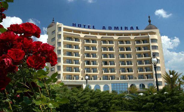 Onnettomuus tapahtui 4-tähtisessä Admiral-hotellissa Varnan kultahietikolla.