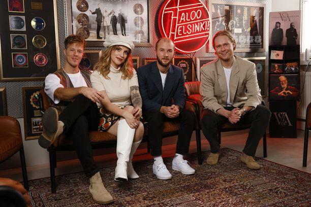 Haloo Helsingin kokoonpano on pysynyt samana alkuajoista lähtien. Vasemmalta Jere Marttila, Elli Haloo, Jukka Soldan ja Leo Hakanen.