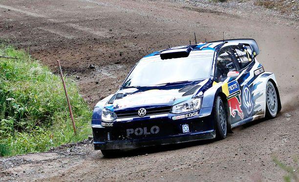Sebastien Ogier ajoi pohjat Ouninpohjassa.