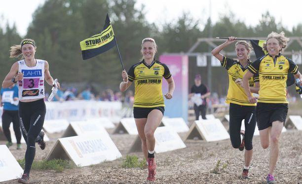 Ruotsin Stora Tuna OK voitti Venlojen viesti Hollolassa.