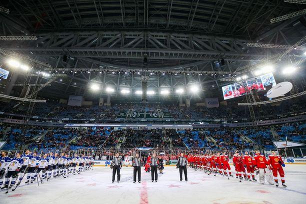 Suomi ja Venäjä kohtasivat Pietarin Gazprom Arenalla 16. joulukuuta 2018. Tuolloin Venäjä voitti Leijonat 5–0.