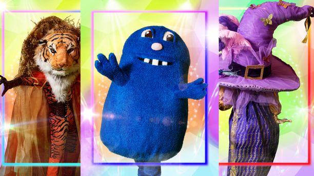 Masked Singerissä tutustutaan tällä kaudella esimerkiksi Tikruun, Mörköön ja Taikahattuun.