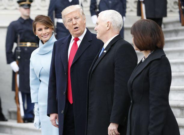Donald Trump vihittiin presidentiksi perjantaina Washingtonissa.