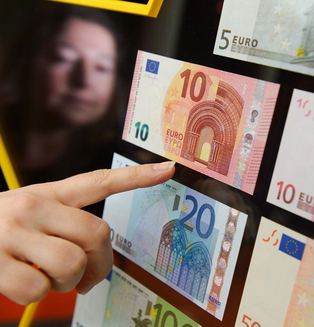 Euroopan keskuspankki julkisti maanantaina uudet kymmenen euron setelit.
