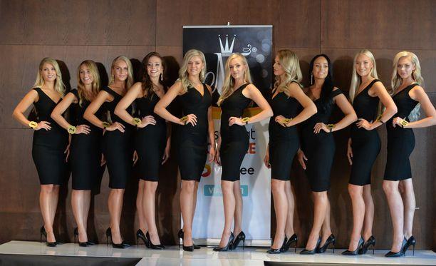 Finalistit ovat kuvassa vasemmalta oikealle Milla-Mari Waismaa, Jenna Ruohola, Alina Voronkova, Janina Koskinen, Eevi Ihalainen, Emilia Anttikoski, Erika Helin, Mirella Merivirta, Jenny Lappalainen, Ellinoora Myötyri.