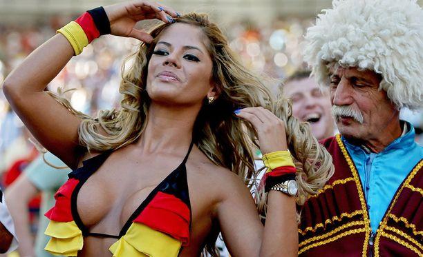 Saksalaisfani vuoden 2014 MM-loppuottelussa.