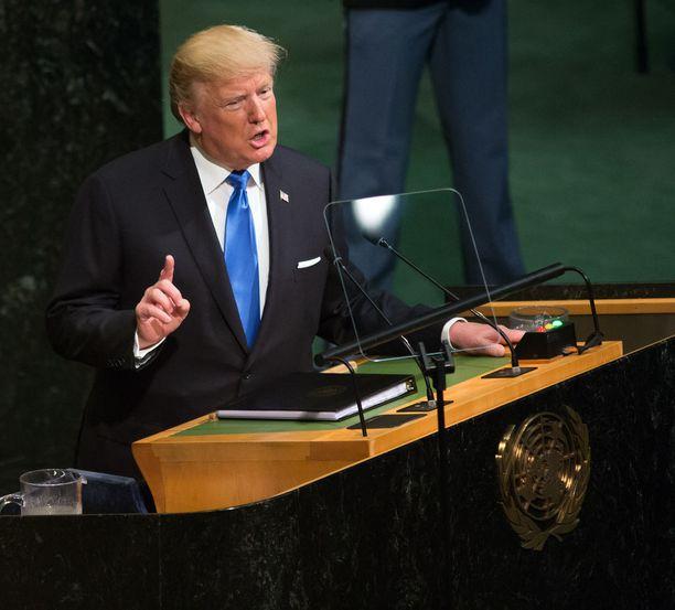 Donald Trump kertoi muun muassa tuhoavansa Pohjois-Korean, jos tarve vaatii.