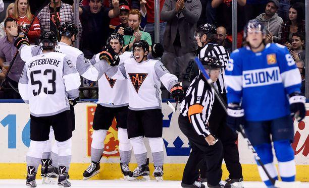 Pohjois-Amerikan joukkueella oli aihetta riemuun. Leijonilla ei niinkään.