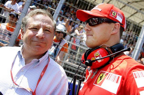 Michael Schumacher ja Jean Todt ovat läheisiä.