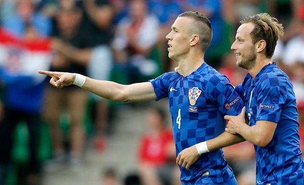 Kroatian Ivan Perisicin ja Ivan Rakiticin juhlat loppuivat lyhyeen.