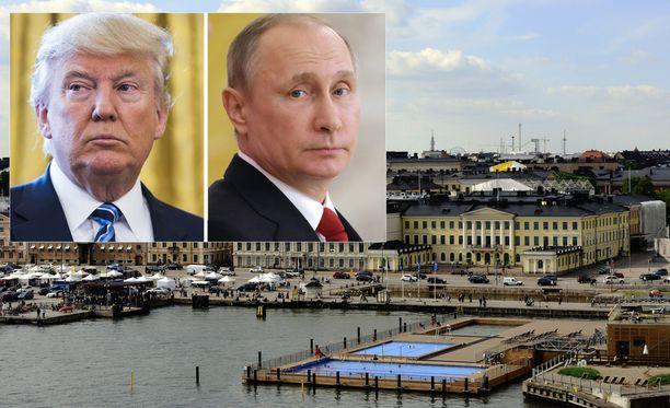 Amerikkalaistoimittajat ovat ihastuneet tähän näkymään. Tarkempia tietoja Trumpin ja Putinin tapaamispaikasta ei vielä ole.