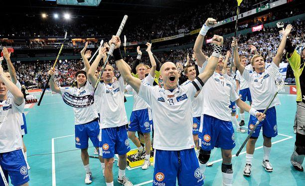 Suomi voitti salibandyn MM-kultaa vuonna 2010 Hartwall-areenassa.
