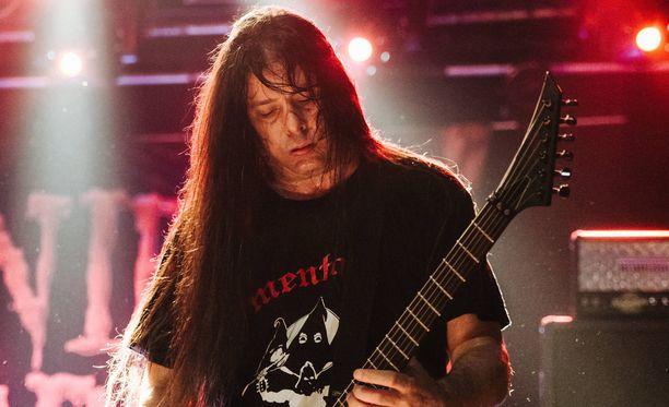 Pat O'Brienin Cannibal Corpse oli juuri palkattu Slayerin kiertueelle.