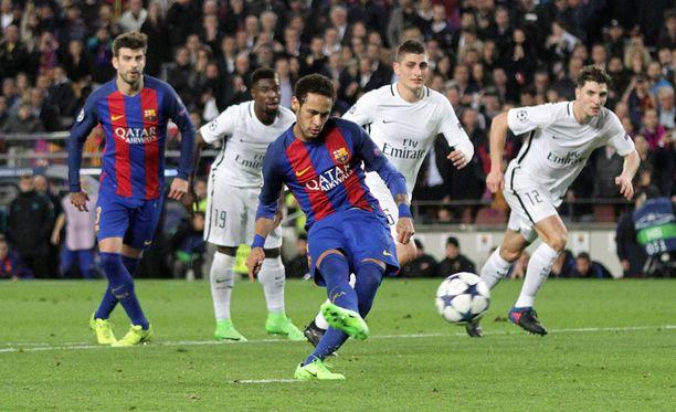 PSG:n jatkohaaveet alkoivat horjumaan Neymarin onnistuttua pilkulta.