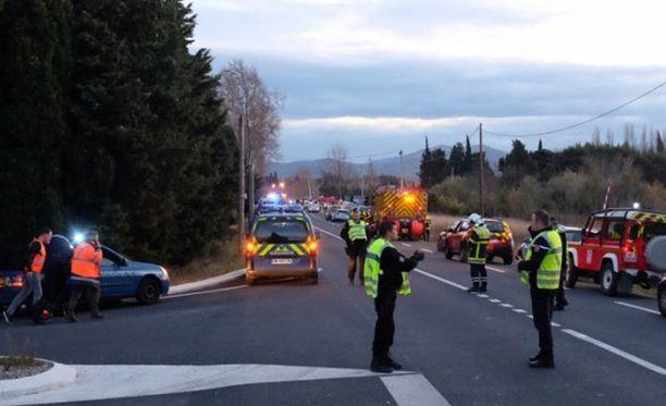 Onnettomuus tapahtui lähellä Perpignania Etelä-Ranskassa.